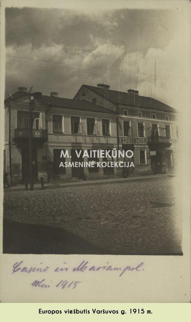 Europos viesbutis 1915 m.