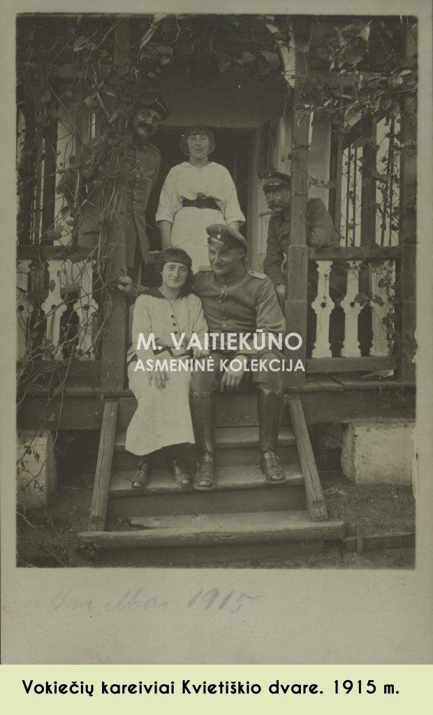 Kvietikšio dvaro veranda 1915 m.