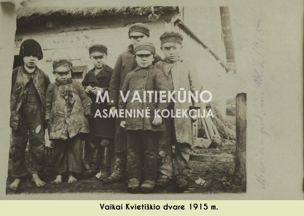 Vaikučiai kvietiskio dvare 1915 m.